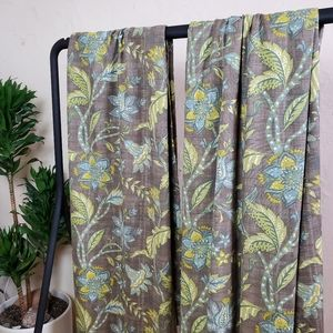 Palampore Jacobean Floral Lined Curtain Set 48×96